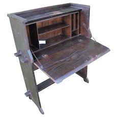 Antique Arts & Crafts Drop Front Desk  w4330