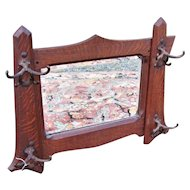 Antique Arts & Crafts Shop of the Crafter Wall Mirror  w4350