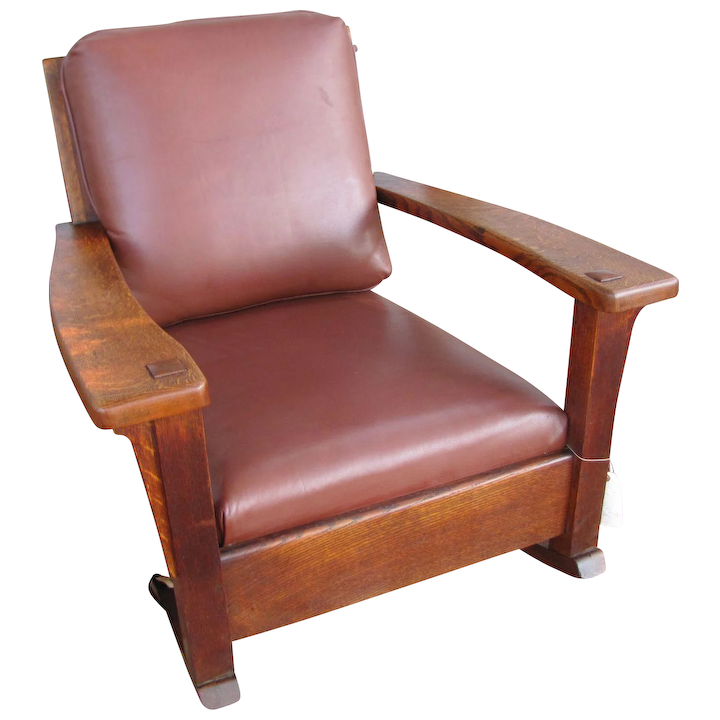 the best attitude a373d 6ab29 Antique Charles Limbert Large Arm Rocking Chair w4361
