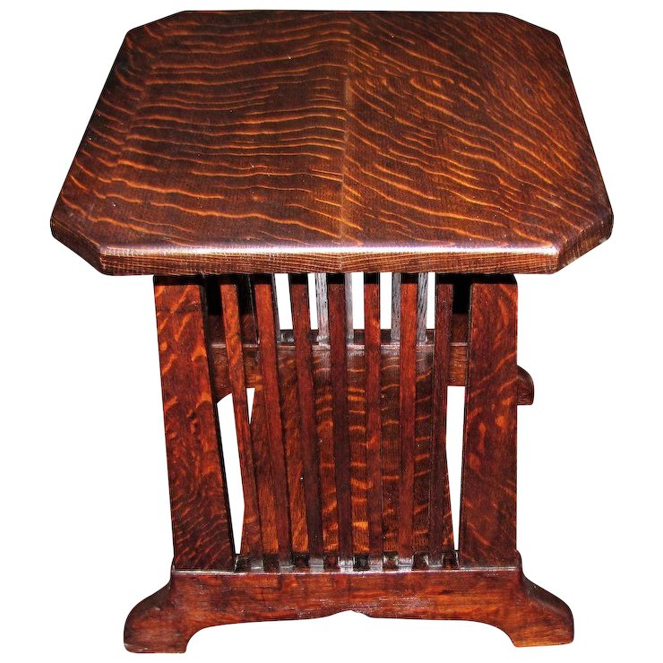 Antique Stickley Brothers Stand W4366