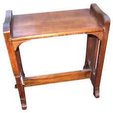 Antique Arts & Crafts Michigan Chair Company Stool/ Window Seat  w4372
