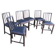 Set of Six Arts & Crafts Dining Chairs  w4378