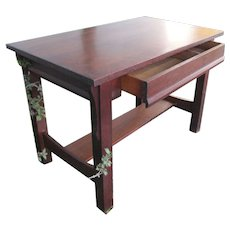 Antique Arts & Crafts Library Table/ Desk  w4394