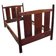 Superb Antique L&jG Stickley Bed  w4403