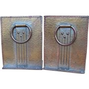 "Pair of Antique Large ""Roycroft"" Bookends  w4417"