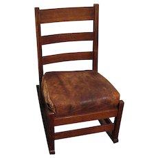 Antique L&jG Stickley Sewing Rocking Chair  w4825