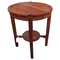 Antique Arts & Crafts Lifetime Lamp Table  w4896