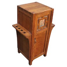 Antique Arts & Crafts Cabinet Stand  w4899