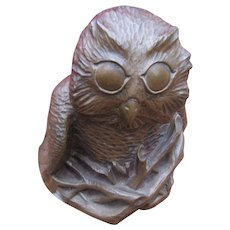 Vintage Richard Fisher Owl Sculpture  w4921