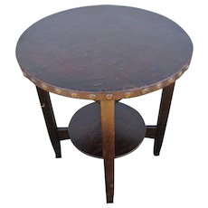 Antique Stickley Brothers Lamp Table  w4955