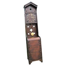 "RARE Antique ""Shop of the Crafters"" Tall Grandfather Clock   w4964"