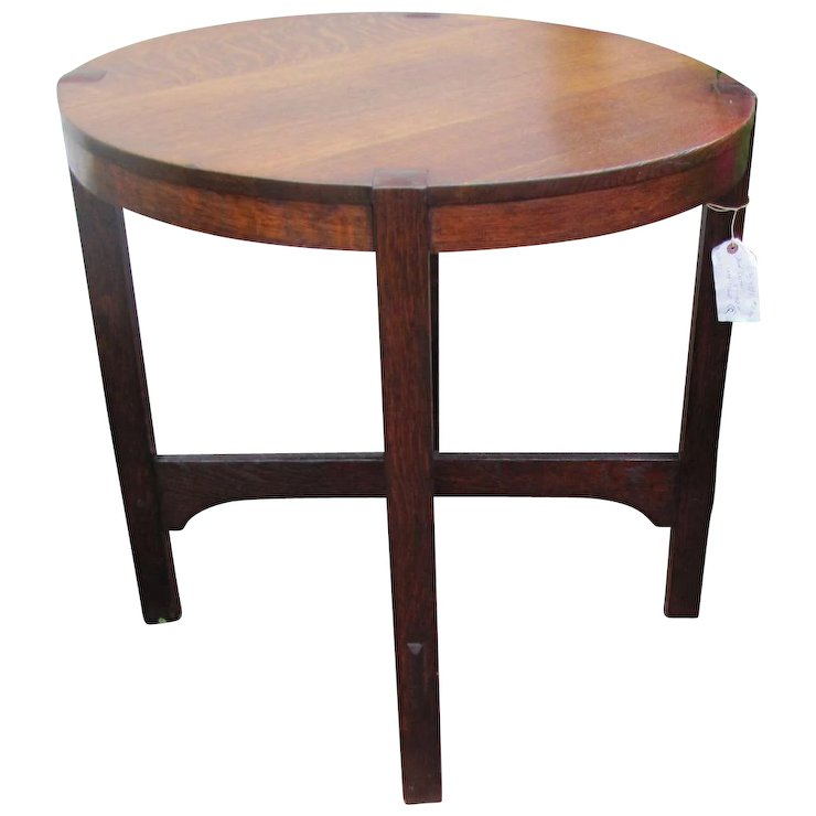 Early Gustav Stickley Table From 1904 With Eastwood Paper Label W4991 This  Table Was Sold In