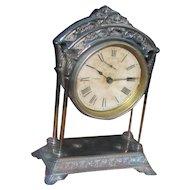 "Antique American ""Ansonia"" Table Clock Circa 1875  w5028"
