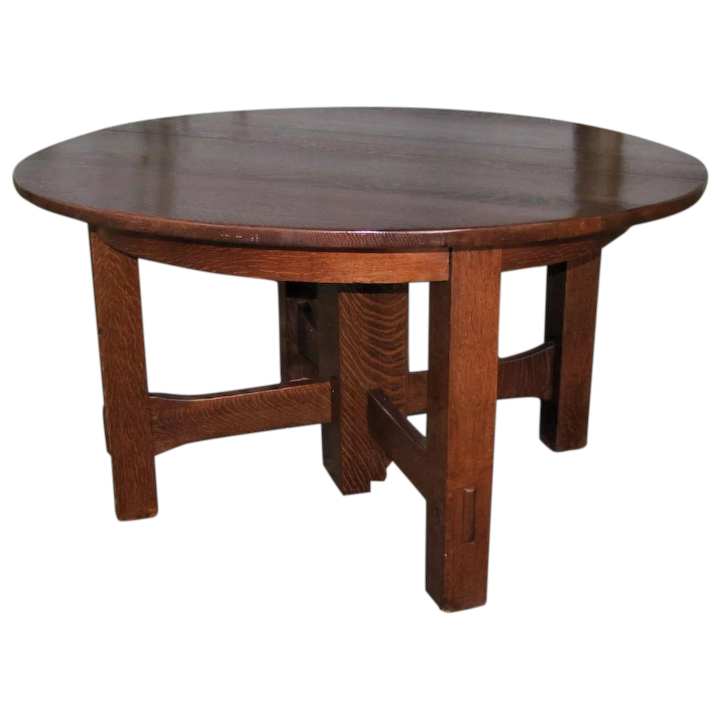 Antique Gustav Stickley Split Extension 5 Leg Dining Table w5041 NOW on  SALE 30% off