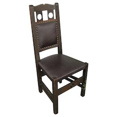 "Antique ""Stickley Brothers"" Hall Chair with Cut Out  w5044"