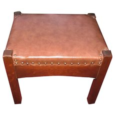 Antique L&jG Stickley Footstool  w5053   (((Need New Pictures!!! Stool Has Black Leather Now!!!)))  this stool sold in our shop.