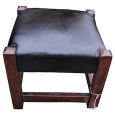 Antique Arts & Crafts Footstool  w5069