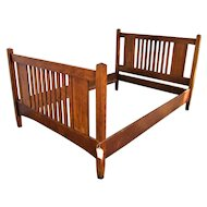 Antique Arts & Crafts/ Mission Stickley Brothers Full Size Bed  w5073