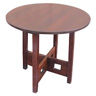 Antique Limbert Table with Cutouts  w5144