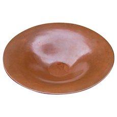 Superb Antique M. Zimmerman Large Hammered Copper Bowl  w5150