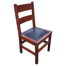 Antique Early and Rare L&jG Stickley Side Chair  w5153