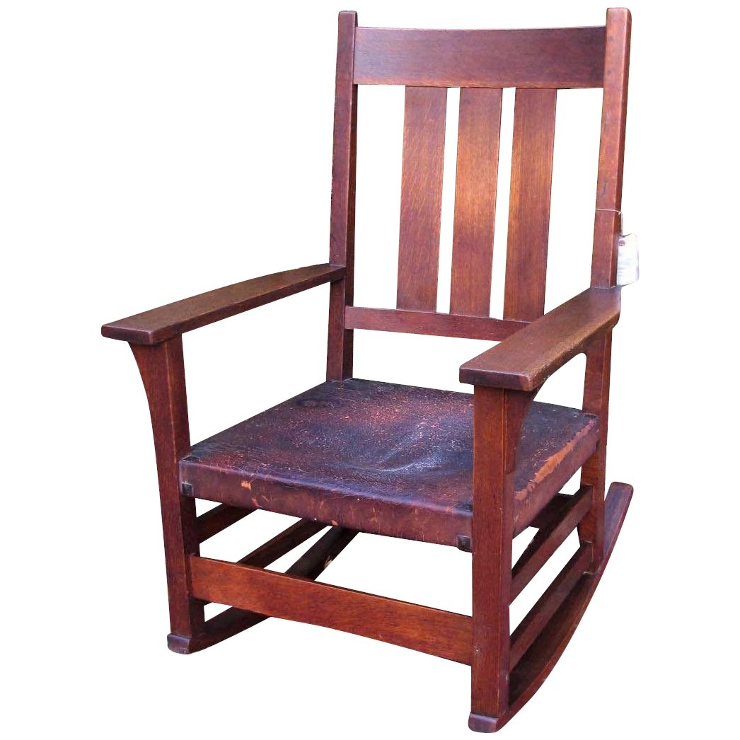 Fine Superb Gustav Stickley Rocking Arm Chair W5155 Caraccident5 Cool Chair Designs And Ideas Caraccident5Info
