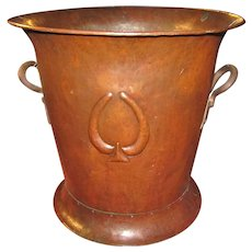 Antique Gustav Stickley Hammered Copper Wine Cooler  w5167