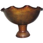 Antique Rare Van Erp Large Hammered Copper Center Piece  w5168