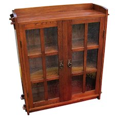 Rare Antique Small Gustav Stickley Two Door Bookcase  w5210