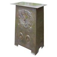 Antique Arts & Crafts Pewter Mantel Clock  w5245