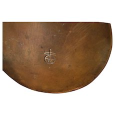 Antique Roycroft Hammered Copper Inkwell  w5254
