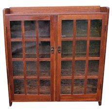 Good Antique Arts & Crafts Gustav Stickley Two Door Bookcase  w5280