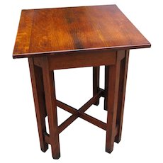 Superbe Superb Rare Antique Arts U0026 Crafts Stickley Brothers End/ Lamp Table W5285