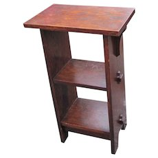 Superb Antique Lifetime Small Book/ Magazine Stand  w5301