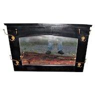 Antique W.M.P. Co. Oak Wall Mirror  w5305