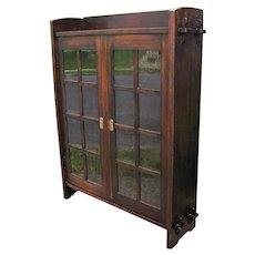 Superb & Rare Early Gustav Stickley 1901 Two Door Bookcase  w5312