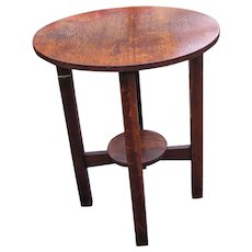 Antique L&jG Stickley Rare Lamp Table  w5316