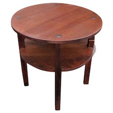 Rare and Early Antique L&jG Stickley Coffee/ Lamp Table  w5319