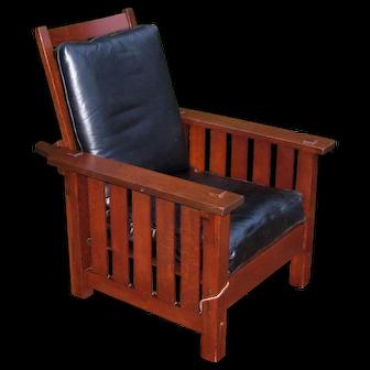 Antique Superb L&jG Stickley Onondaga Shop Morris Chair  w5322