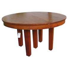 Antique L&jG Stickley Arts and Crafts Dining Table  w5324