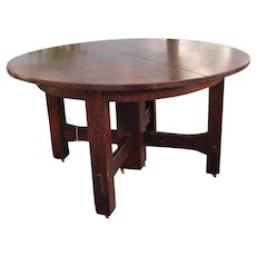 Antique Gustav Stickley Heavy Duty Arts & Crafts Dining Table  w5325