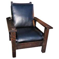 Superb Antique L&jG Stickley Onondaga Shop Morris Chair  w5335