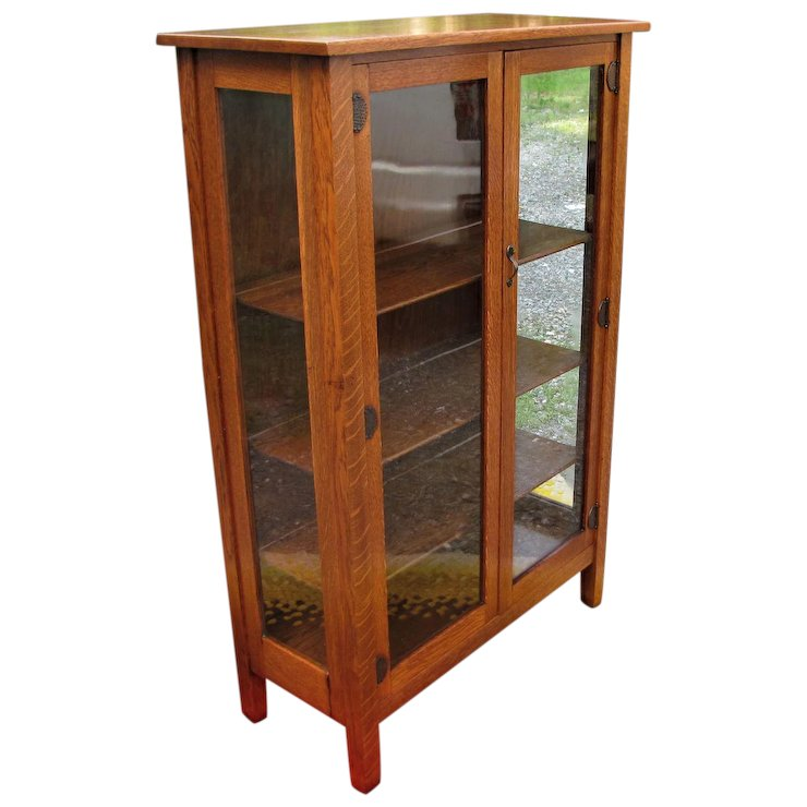 Antique Small Stickley Brothers China Cabinet W5348