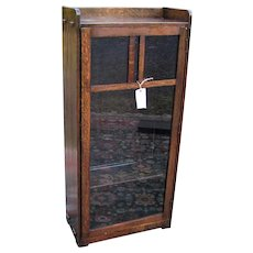 Antique Arts & Crafts Lifetime One Door Bookcase  w5353