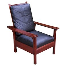 Antique L&jG Stickley Morris Chair  w5358
