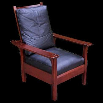 Antique L&jG Stickley Morris Chair  w5358