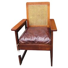 Great Looking Antique Stickley Brothers Armchair  (Cube Form)  w5360