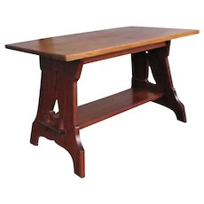 Superb Early Stickley Brothers Library Table  w5365