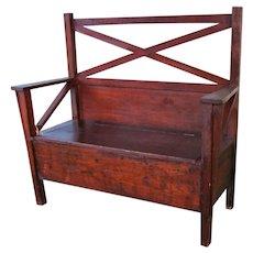 Antique Arts & Crafts Chest Bench w5369