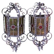 Great Pair of Vintage Arts & Crafts Wall Sconces  w5387